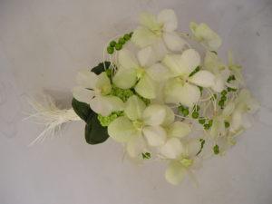 witte vanda met wit pitriet
