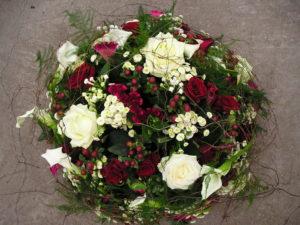 rood wit rozen biedermeier
